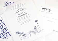 Manhattan Beach Skyline Wedding Invitations
