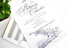 Martha's Vineyard Skyline Rehearsal Dinner Invitations