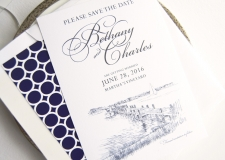 Martha's Vineyard Skyline Save the Date Cards