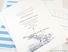 Martha's Vineyard Skyline Wedding Invitations