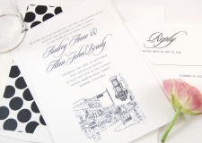 Memphis, Beale Street h Skyline Wedding Invitations