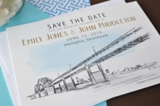 Memphis Bridge Save the Date Cards