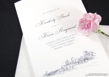 Memphis Skyline Wedding Programs