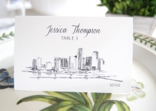 Miami Skyline Place Cards