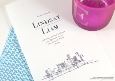 Miami Skyline Wedding Programs