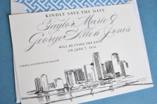Miami Skyline Save the Date Cards