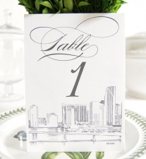 Miami Skyline Table Numbers