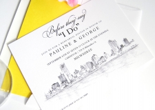 Milwaukee Skyline Rehearsal Dinner Invitations