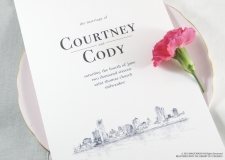 Milwaukee Skyline Wedding Programs