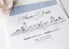 Milwaukee Skyline Save the Date Cards