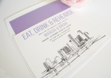 Miami Skyline Rehearsal Dinner Invitations