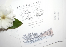 Minneapolis Skyline Save the Date Cards