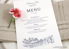 minneapolis skyline menu cards