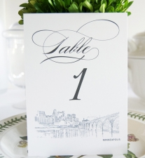 Minneapolis Skyline Table Numbers