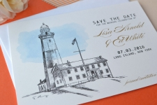 Montauk Lighthouse Save the Date Cards