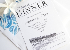 Myrtle Beach Skyline Rehearsal Dinner Invitations