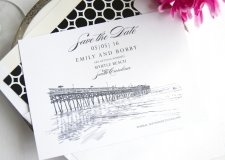 Myrtle Beach Skyline Save the Date Cards