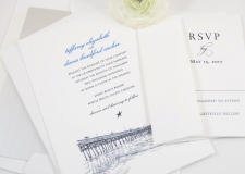 Myrtle Beach Skyline Wedding Invitations