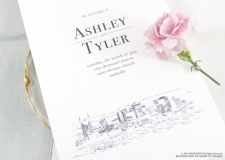 Nashville Skyline Wedding Programs