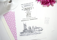 Nashville View Save the Date Cards