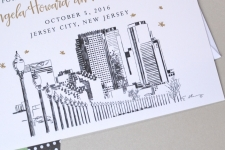 Jersey City Skyline Save the Date Cards