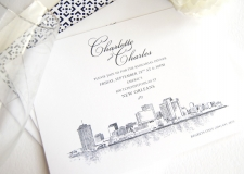 New Orleans Skyline Rehearsal Dinner Invitations