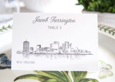 New Orleans Skyline Place Cards