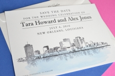 New Orleans Skyline Save the Date Cards