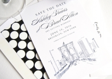Brooklyn Bridge, New York Skyline Save the Date Cards