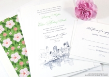 NYC Central Park Skyline Wedding Invitations