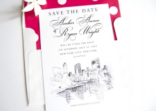New York Central Park Skyline Save the Date Cards