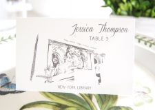New York Library Skyline Place Cards