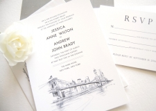 New York City Skyline Wedding Invitations