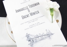 New York Skyline Wedding Programs