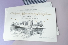 Newark, New Jersey Skyline Save the Date Cards