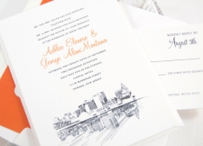 Newark Skyline Wedding Invitations