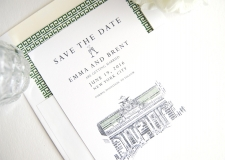 New York Grand Central Station Skyline Save the Date Cards
