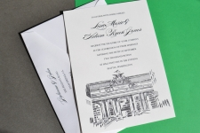 NYC Grand Central Station Skyline Wedding Invitations