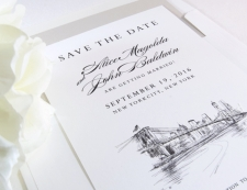NYC Skyline Weddings Save the Date Cards