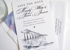 Ocean Beach Save the Date Cards