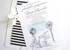 O'Donnell House Palm Springs Wedding Invitations