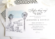 O'Donnell House Skyline Rehearsal Dinner Invitations