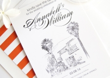 O'Donnell House Palm Springs Save the Date Cards