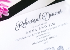 Orlando Skyline Rehearsal Dinner Invitations