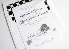 Palm Springs Skyline Wedding Invitations