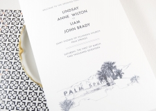 Palm Springs  Skyline Wedding Programs