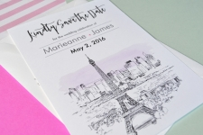 Paris Save the Date Cards