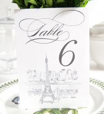 Paris Skyline Table Numbers