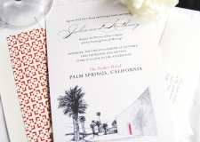 Parker Hotel Palm Springs Skyline Wedding Invitations