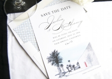 Parker Palm Springs Skyline Save the Date Cards